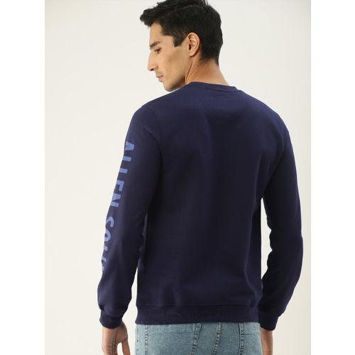 Allen Solly Sport Men Navy Blue Solid Sweatshirt