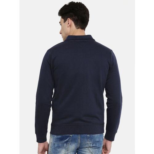 Tommy Hilfiger Men Navy Blue Embroidered Sweatshirt