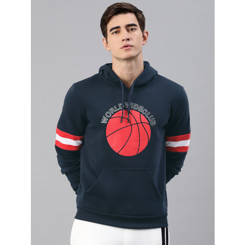 HRX by Hrithik Roshan Men Navy Blue Printed Sweatshirt