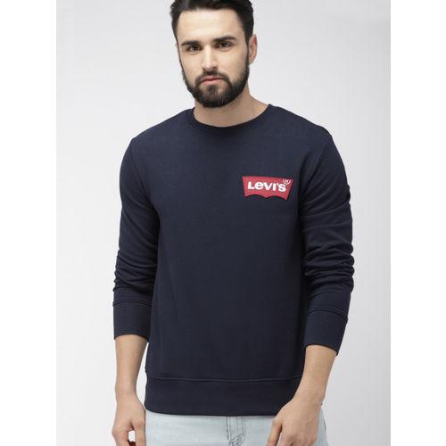 Levis Men Navy Blue Solid Sweatshirt