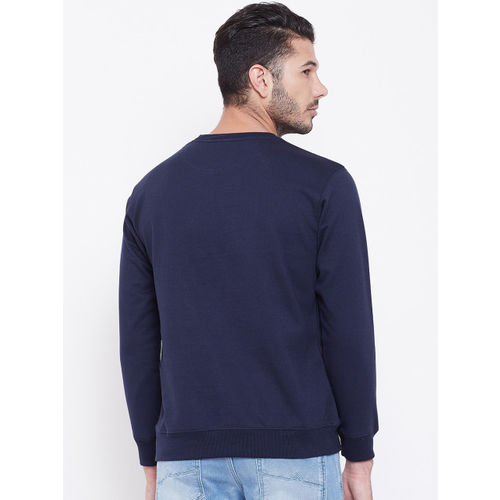 PORTBLAIR Men Navy Blue Printed Sweatshirt