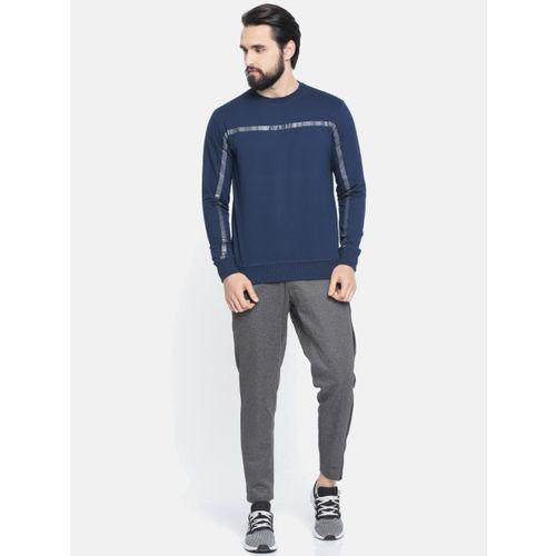 Proline Active Men Navy Blue Solid Sweatshirt