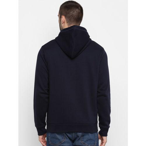 Red Tape Men Navy Blue Printed Hooded Sweatshirt