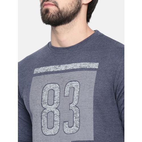 Proline Active Men Blue Printed Comfort Fit Sweatshirt