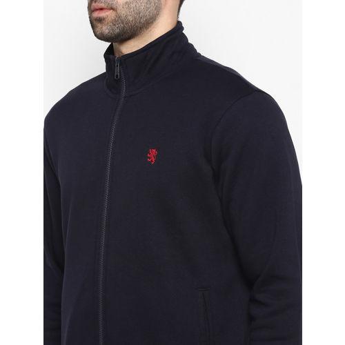 Red Tape Men Navy Blue Solid Sweatshirt