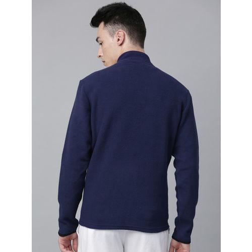 HRX by Hrithik Roshan Outdoor Men Navy Blue Solid Sweatshirt