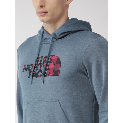 The North Face Men Navy Blue Printed Half Dome Hoodie