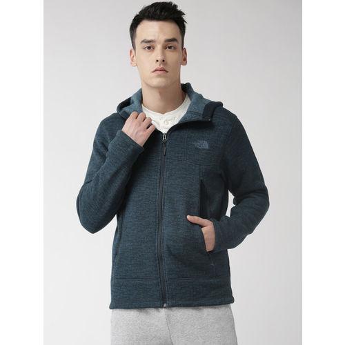 The North Face Men Navy Blue Self-Design GL Alpine Hoodie