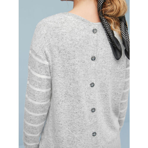 next Women Grey Solid Sweatshirt