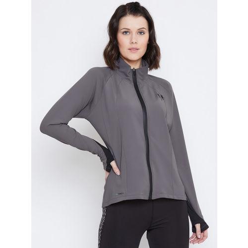 PERFKT-U Women Grey Solid Sweatshirt