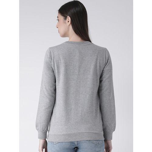 The Vanca Women Grey Printed Sweatshirt