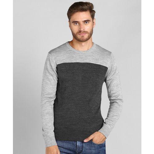 Numero Uno Solid Round Neck Casual Men Grey Sweater