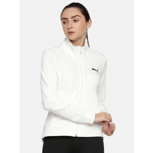 Puma Women White Printed Cool It FT Sweatshirt