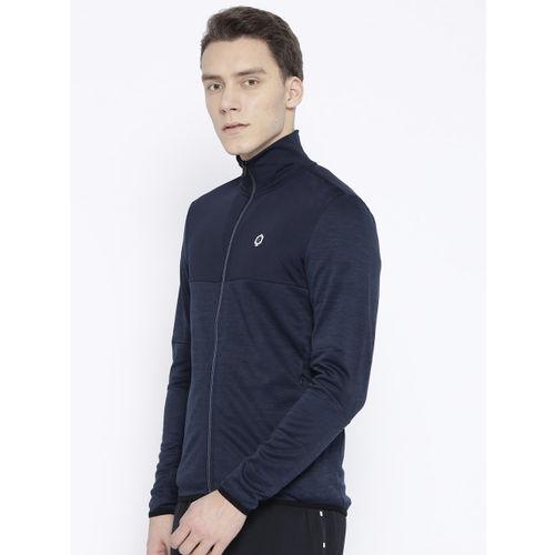 Jack & Jones Men Navy Blue Solid Sweatshirt