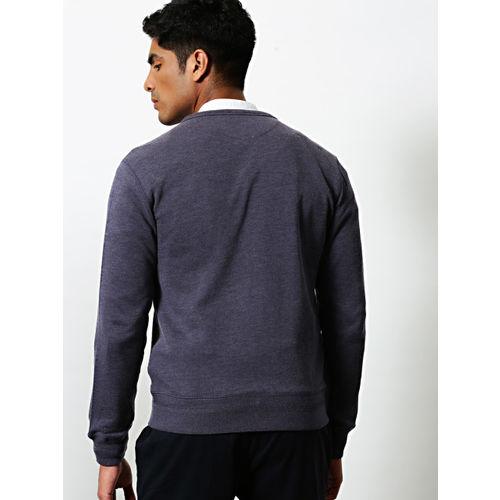 Mr Bowerbird Men Navy Blue Checked Sweatshirt