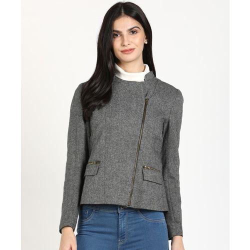 AND Full Sleeve Self Design Women Jacket
