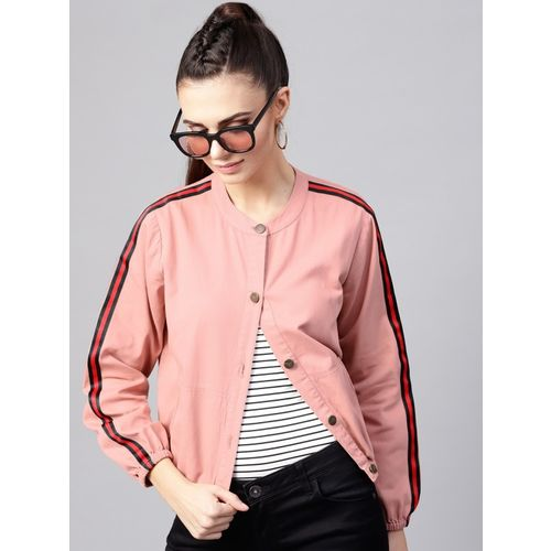 Sassafras Full Sleeve Striped Women Denim Jacket