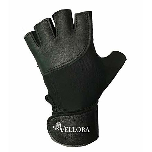 VELLORA Vipper Gym Gloves Sheep Leather Fitness Training Gym Gloves/Functional Hand Protector (Free Size)
