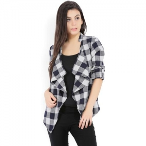 Vero Moda Women No Closure Checkered Cardigan
