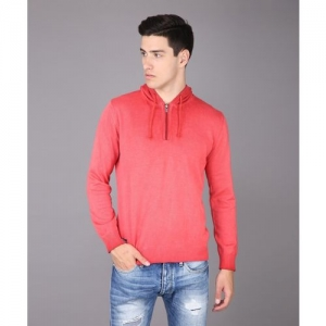Pepe Jeans Solid Casual Men Pink Sweater