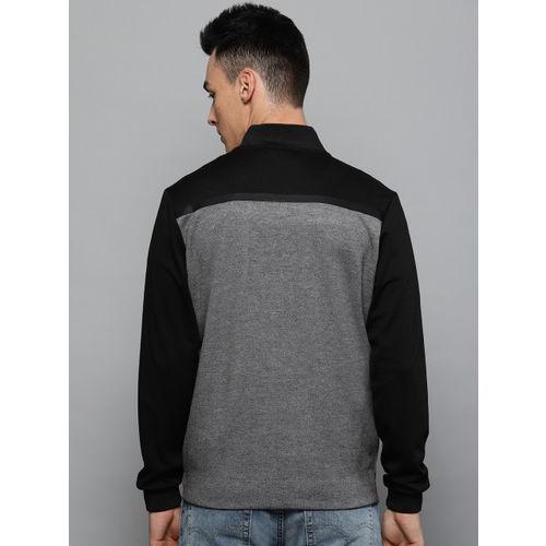 Louis Philippe Sport Men Grey Solid Sweatshirt