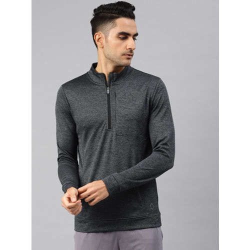 Peter England Men Grey Solid Sweatshirt