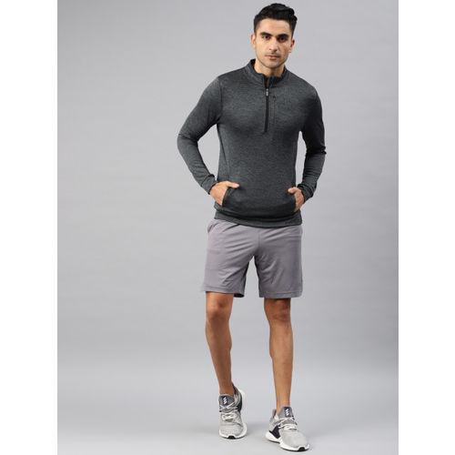 Peter England Men Grey Solid Sweatshirt
