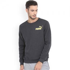 Puma Men Grey Printed Sweatshirt