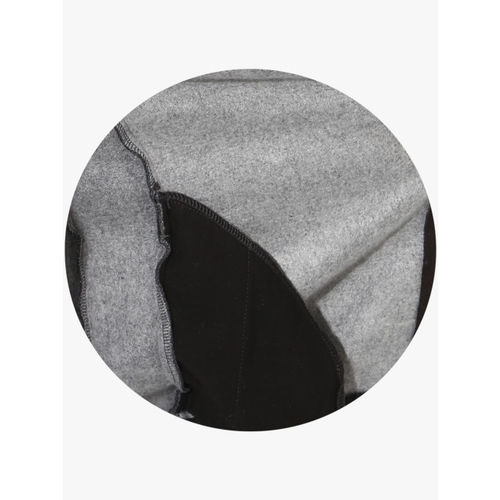 CAMLA Charcoal Grey Textured Slim Fit Sweat Jacket