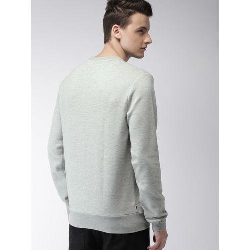 Tommy Hilfiger Men Grey Solid Sweatshirt