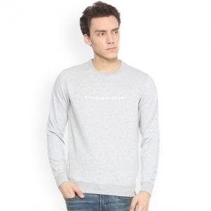 Peter England Men Grey Printed Sweatshirt