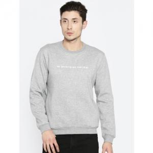 Peter England Casuals Men Grey Printed Sweatshirt