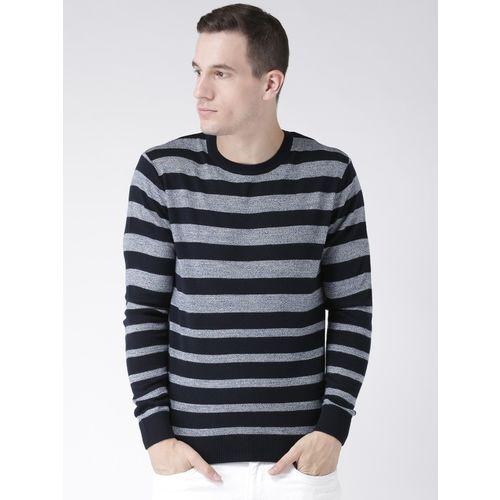 Club York Round Neck Striped Men Pullover