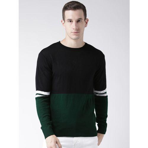 Club York Round Neck Self Design Men Pullover
