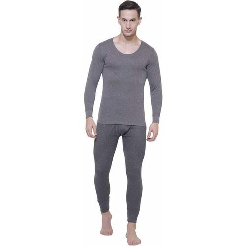 Jockey Charcoal Melange Full Sleeve Men Top - Pyjama Set Thermal
