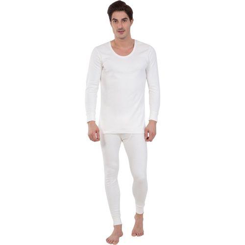 Jockey Off White Full Sleeve Men Top - Pyjama Set Thermal