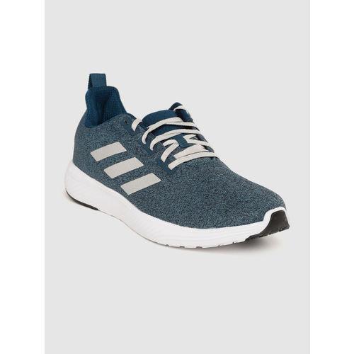ADIDAS Men Teal Blue Woven Design Kollide Running Shoes