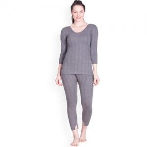 Lux Inferno Round Neck Long Top & Trouser Set Women Top - Pyjama Set Thermal