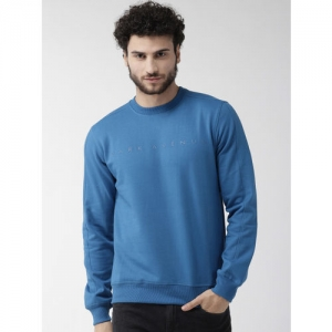Park Avenue Men Blue Applique Detail Sweatshirt