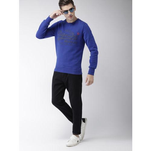 Superdry Men Blue Printed Sweatshirt