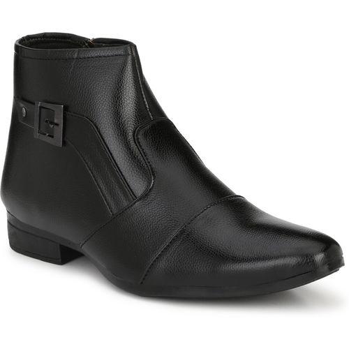 Runway High Ankle Boots For Men(Black)