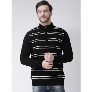 COBB Men Black & White Striped Sweater