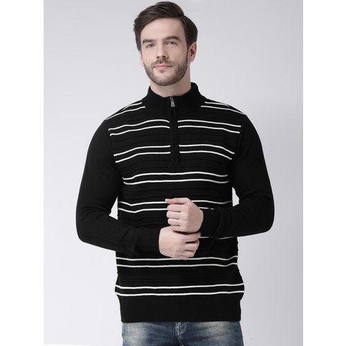 COBB Men Black & White Striped Sweater