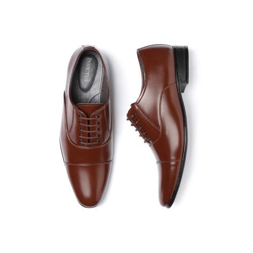 INVICTUS Men Brown Solid Formal Oxfords