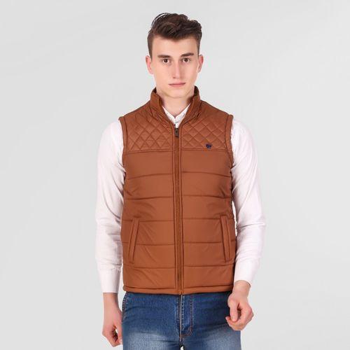 HEMLOCK Sleeveless Self Design Men's Jacket