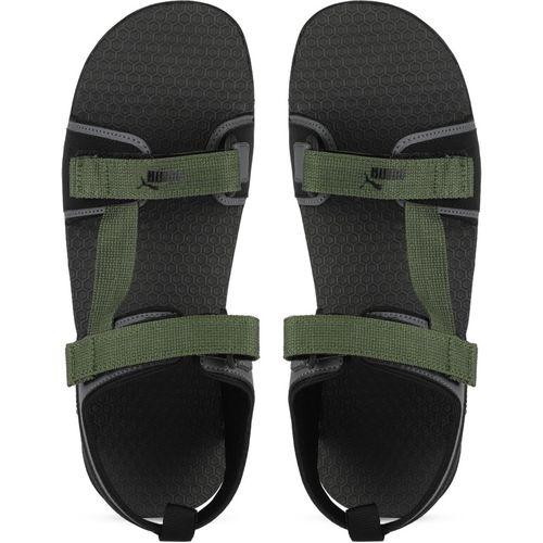 Puma Hexa IDP Men Grey, Green Sports Sandals