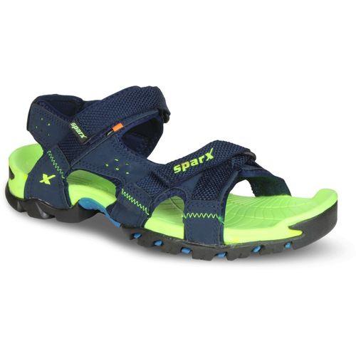 Sparx Sparx Men SS-447 Navy Blue Fluorescent Green Floater Sandals Men Navy, Green Sandals