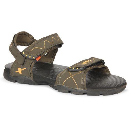 Sparx Sparx Men SS-110 Olive Yellow Floater Sandals Men Olive Sports Sandals