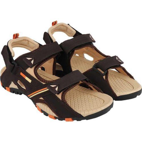NXGEN Men Brown, Off White Sandals