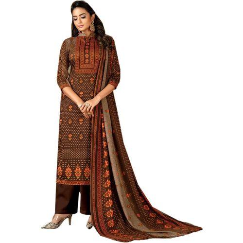BKRKJ Wool Floral Print Salwar Suit Material(Unstitched)